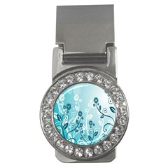 Flower Blue River Star Sunflower Money Clips (cz)