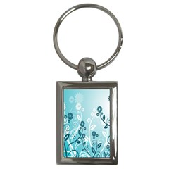Flower Blue River Star Sunflower Key Chains (rectangle)
