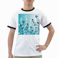Flower Blue River Star Sunflower Ringer T Shirts