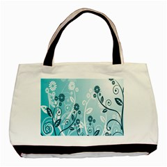 Flower Blue River Star Sunflower Basic Tote Bag