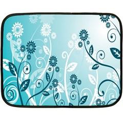 Flower Blue River Star Sunflower Fleece Blanket (mini)