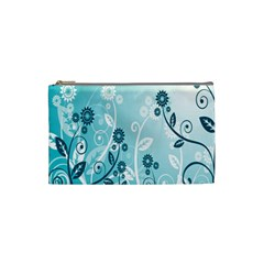 Flower Blue River Star Sunflower Cosmetic Bag (small)