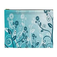 Flower Blue River Star Sunflower Cosmetic Bag (xl)
