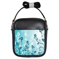 Flower Blue River Star Sunflower Girls Sling Bags