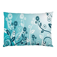 Flower Blue River Star Sunflower Pillow Case (two Sides)