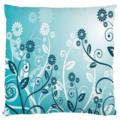 Flower Blue River Star Sunflower Large Cushion Case (one Side)