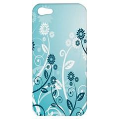 Flower Blue River Star Sunflower Apple Iphone 5 Hardshell Case