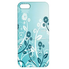 Flower Blue River Star Sunflower Apple Iphone 5 Hardshell Case With Stand