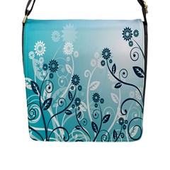 Flower Blue River Star Sunflower Flap Messenger Bag (l)