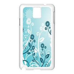 Flower Blue River Star Sunflower Samsung Galaxy Note 3 N9005 Case (white)