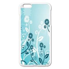 Flower Blue River Star Sunflower Apple Iphone 6 Plus/6s Plus Enamel White Case