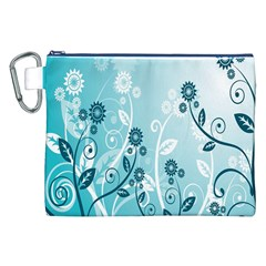 Flower Blue River Star Sunflower Canvas Cosmetic Bag (xxl)