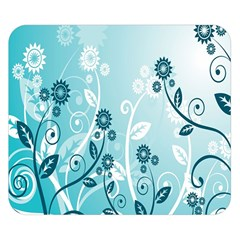 Flower Blue River Star Sunflower Double Sided Flano Blanket (small)