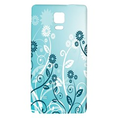 Flower Blue River Star Sunflower Galaxy Note 4 Back Case
