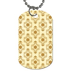 Flower Brown Star Rose Dog Tag (two Sides)