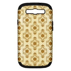 Flower Brown Star Rose Samsung Galaxy S Iii Hardshell Case (pc+silicone)