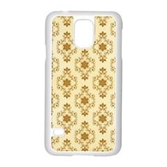 Flower Brown Star Rose Samsung Galaxy S5 Case (white)