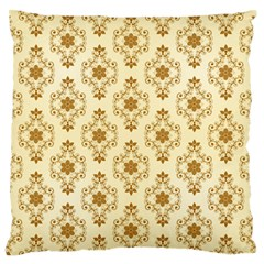 Flower Brown Star Rose Large Flano Cushion Case (one Side)
