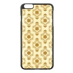 Flower Brown Star Rose Apple Iphone 6 Plus/6s Plus Black Enamel Case