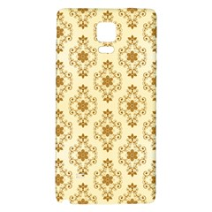 Flower Brown Star Rose Galaxy Note 4 Back Case
