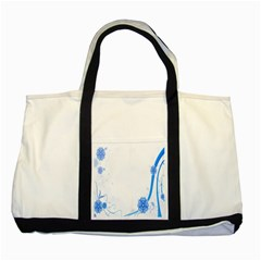 Flower Blue Sunflower Star Sexy Two Tone Tote Bag