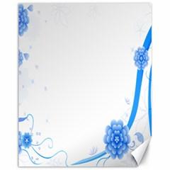 Flower Blue Sunflower Star Sexy Canvas 11  X 14
