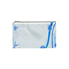 Flower Blue Sunflower Star Sexy Cosmetic Bag (small)