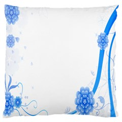 Flower Blue Sunflower Star Sexy Large Cushion Case (one Side)
