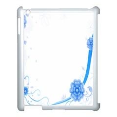 Flower Blue Sunflower Star Sexy Apple Ipad 3/4 Case (white)