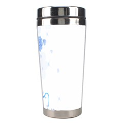 Flower Blue Sunflower Star Sexy Stainless Steel Travel Tumblers