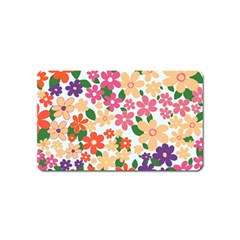 Flower Floral Rainbow Rose Magnet (name Card)