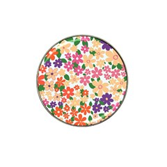 Flower Floral Rainbow Rose Hat Clip Ball Marker (10 Pack)