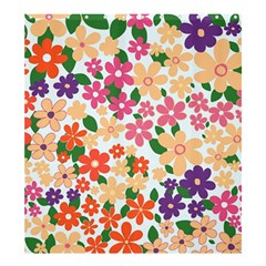 Flower Floral Rainbow Rose Shower Curtain 66  X 72  (large)