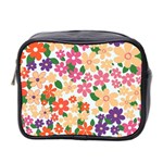 Flower Floral Rainbow Rose Mini Toiletries Bag 2-Side Front
