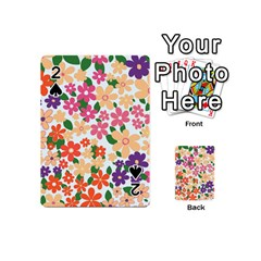 Flower Floral Rainbow Rose Playing Cards 54 (mini)