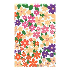 Flower Floral Rainbow Rose Shower Curtain 48  X 72  (small)