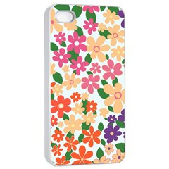 Flower Floral Rainbow Rose Apple Iphone 4/4s Seamless Case (white)