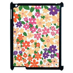 Flower Floral Rainbow Rose Apple Ipad 2 Case (black)