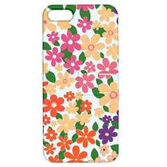 Flower Floral Rainbow Rose Apple Iphone 5 Hardshell Case With Stand