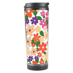 Flower Floral Rainbow Rose Travel Tumbler