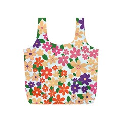 Flower Floral Rainbow Rose Full Print Recycle Bags (s)