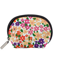 Flower Floral Rainbow Rose Accessory Pouches (small)