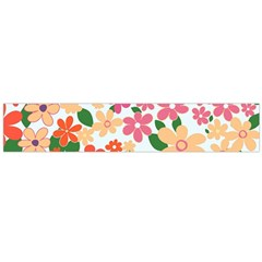 Flower Floral Rainbow Rose Flano Scarf (large)