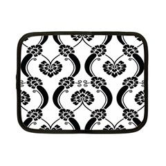 Flower Floral Black Sexy Star Black Netbook Case (small)