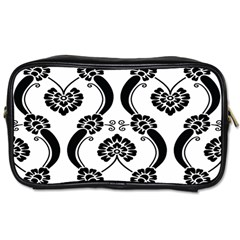 Flower Floral Black Sexy Star Black Toiletries Bags 2 Side