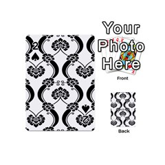 Flower Floral Black Sexy Star Black Playing Cards 54 (mini)