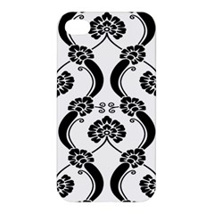 Flower Floral Black Sexy Star Black Apple Iphone 4/4s Hardshell Case