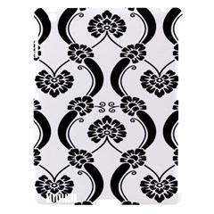 Flower Floral Black Sexy Star Black Apple Ipad 3/4 Hardshell Case (compatible With Smart Cover)
