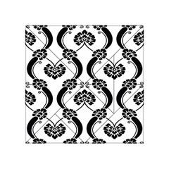 Flower Floral Black Sexy Star Black Acrylic Tangram Puzzle (4  X 4 )
