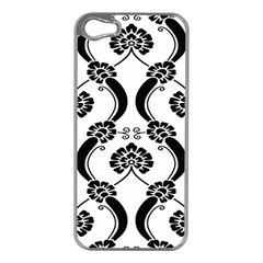 Flower Floral Black Sexy Star Black Apple Iphone 5 Case (silver)